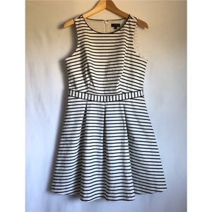The Limited Classic Blue / white striped day dress